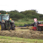 Farm, tractor and plough
