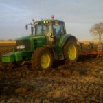 Ian in his tractor ploughing